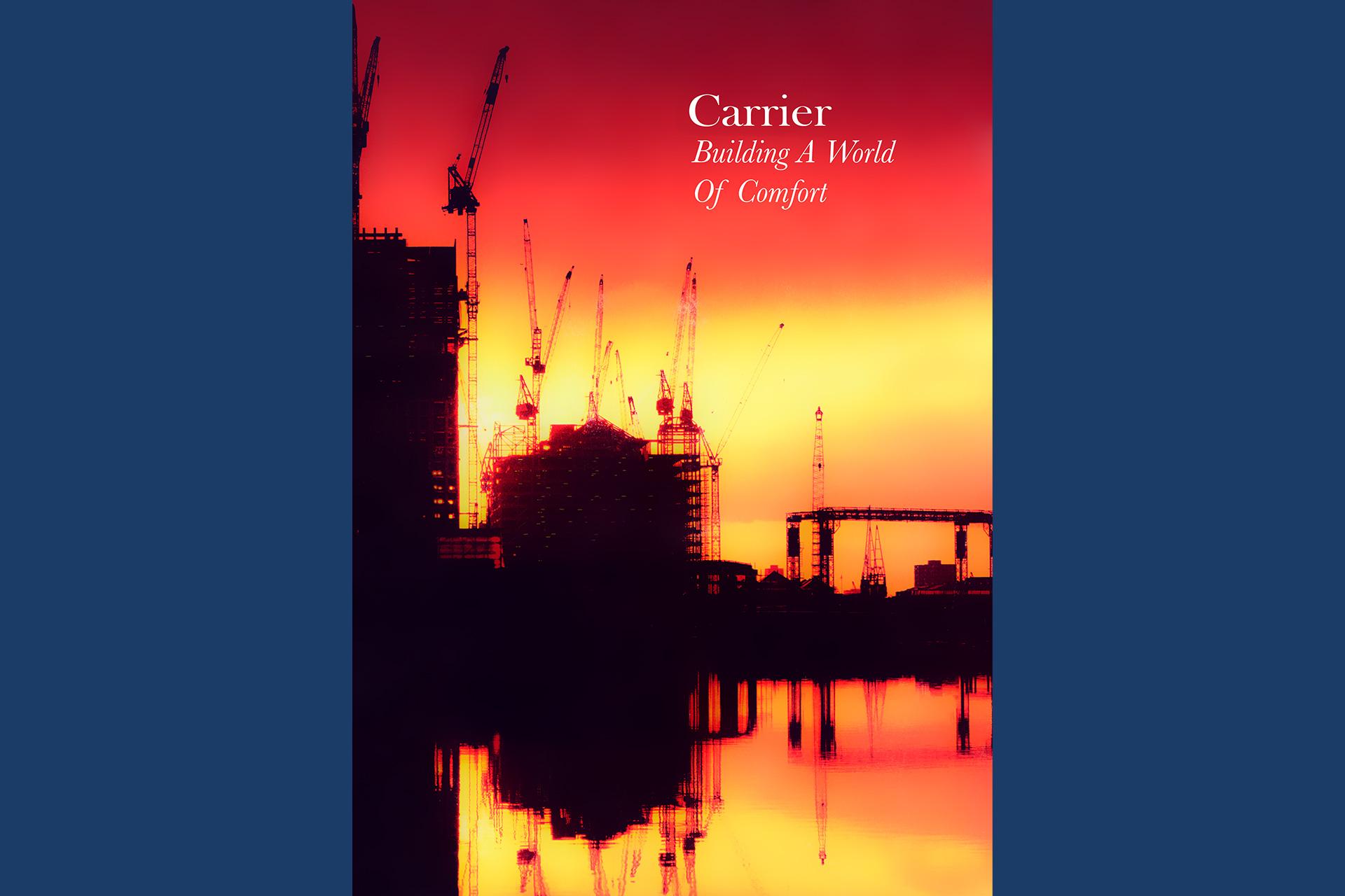 Rapport Annuel Carrier mondial. Photos en pages intérieures. Commande production par FOVEA.