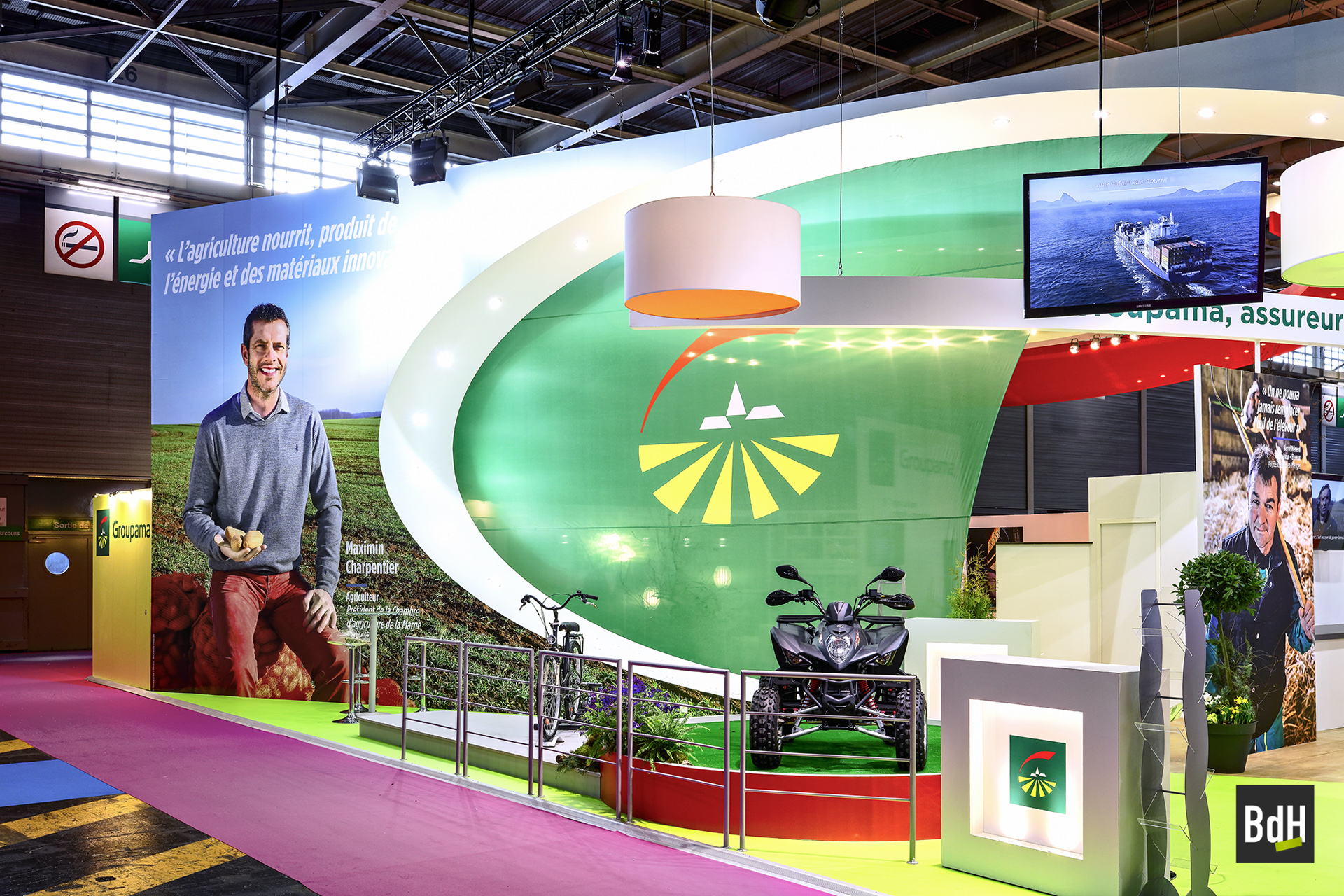 Exposition Bruno de HOGUES en commande pour Groupama au Salon International de l'Agriculture (SIA) à Paris le 02_2017.